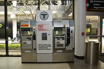photo of MBTA Ticket Machine